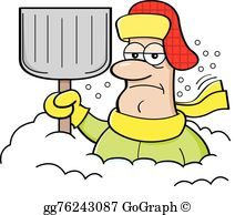 Snow Shovel Clip Art - Royalty Free - GoGraph clipart free library