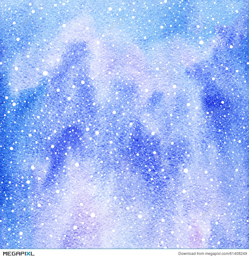 Winter Watercolor Background With Snow Splash Texture ... stock