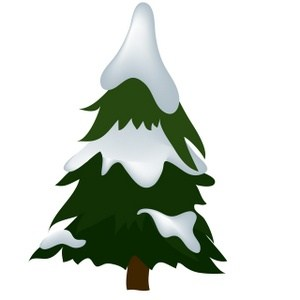Snow trees clipart vector black and white stock Snow on trees clipart » Clipart Portal vector black and white stock