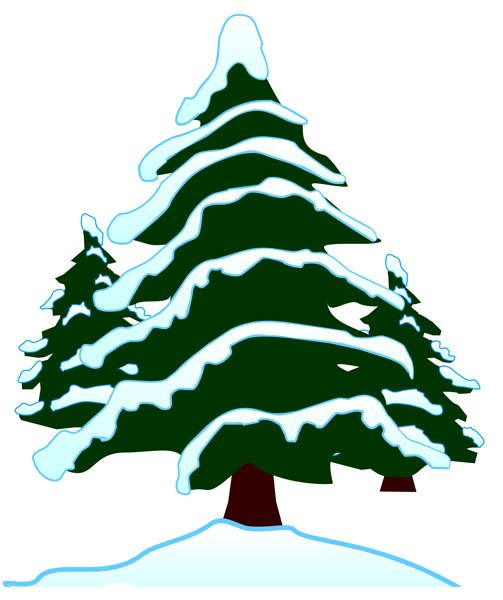 Snow trees clipart svg stock Snow-covered Tree Clipart - Clipart Kid | Christmas trees ... svg stock