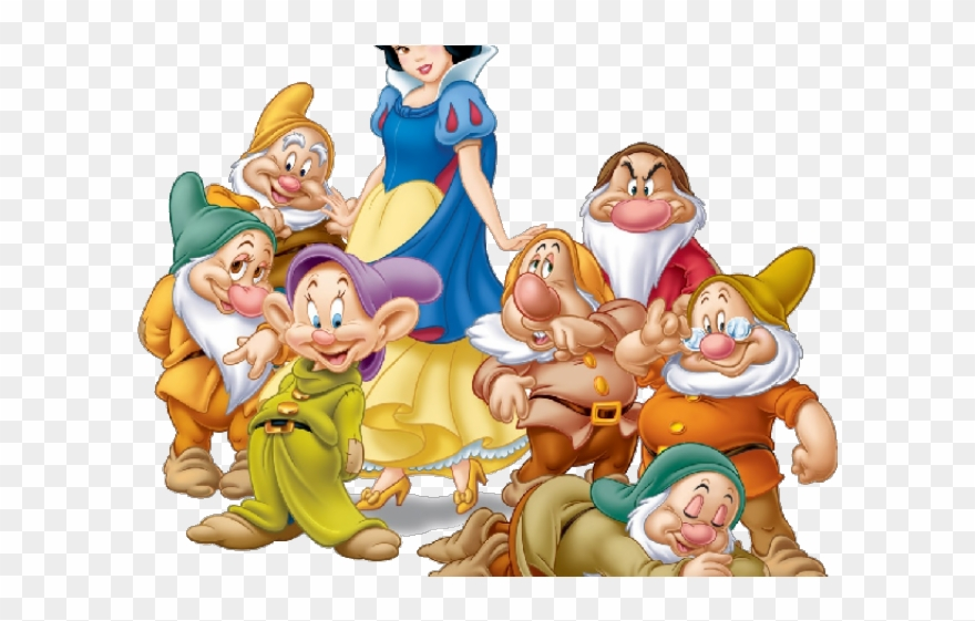 Snow white and the seven dwarfs clipart banner freeuse download Snow White And The Seven Dwarfs Clipart Bird - Snow White ... banner freeuse download