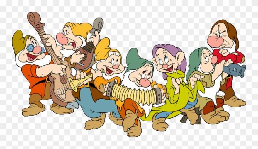 Snow white and the seven dwarfs clipart black and white Snow White And The Seven Dwarfs Png Free Download Clipart ... black and white