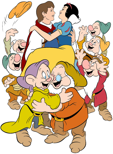 Snow white and the seven dwarfs clipart picture royalty free Snow White with Dwarfs Clip Art | Disney Clip Art Galore picture royalty free