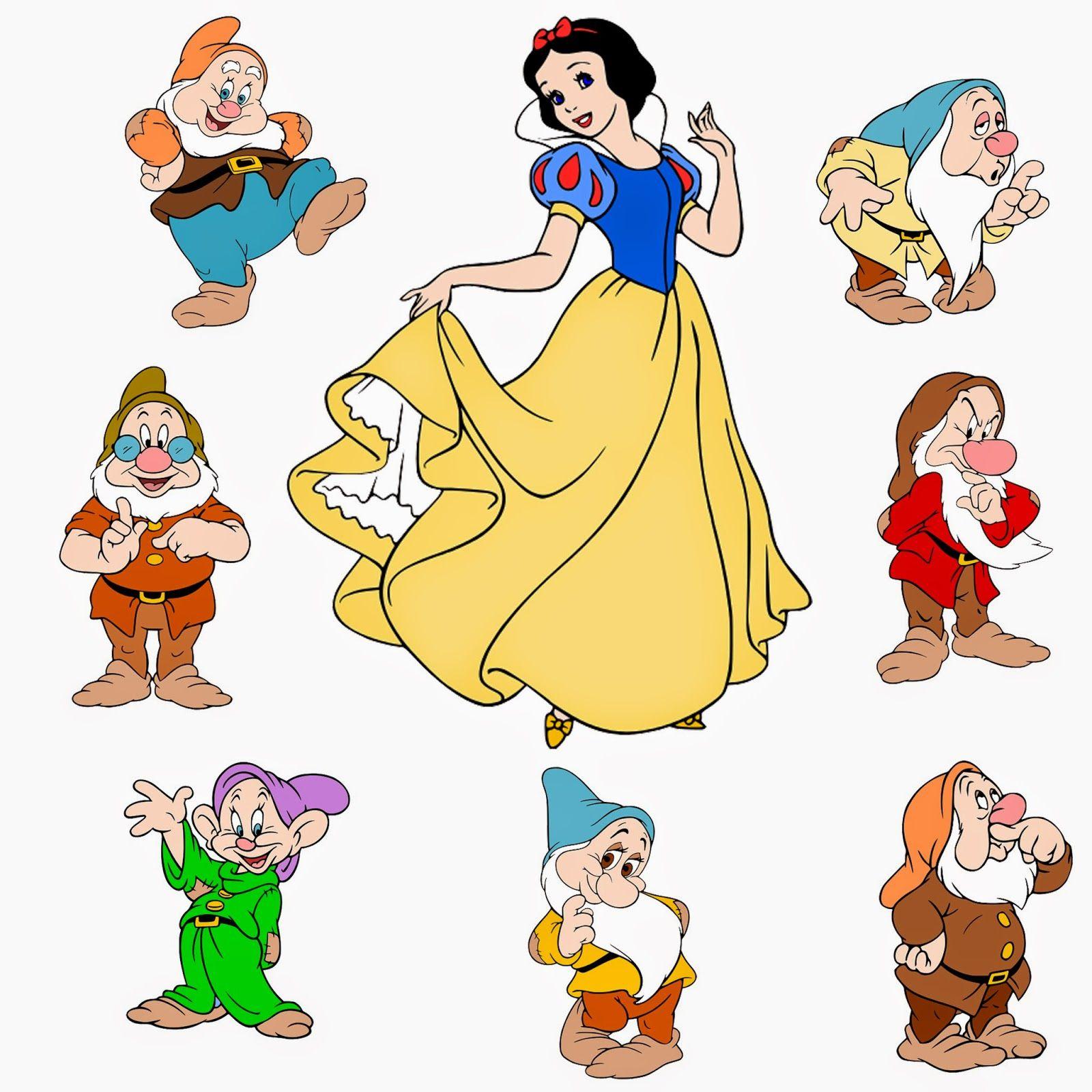 Snow white and the seven dwarfs clipart black and white stock Krafty Nook: Disney\'s Snow White and the Seven Dwarfs SVG ... black and white stock