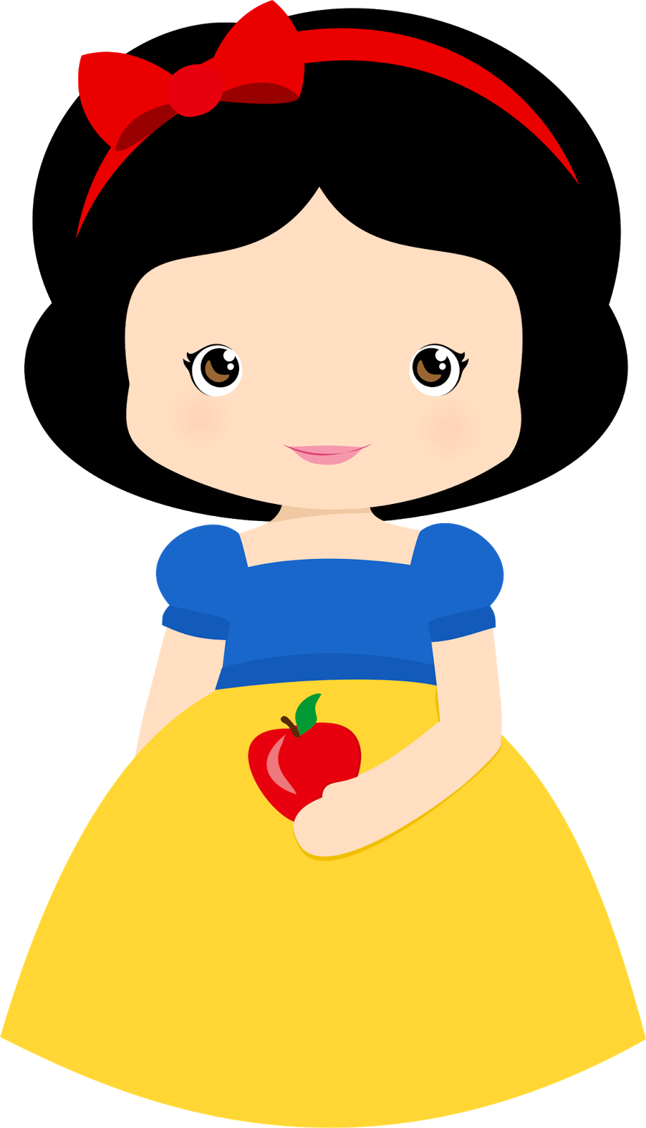 Snow white with apple clipart picture transparent stock Snow White Baby Clip Art. | Oh My Baby! picture transparent stock