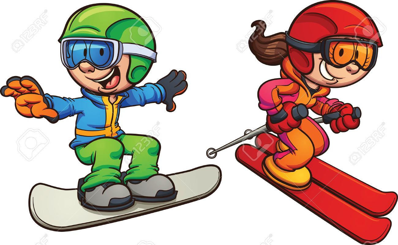 Snowboard kids 2 clipart svg royalty free stock Collection of Snowboarding clipart | Free download best ... svg royalty free stock