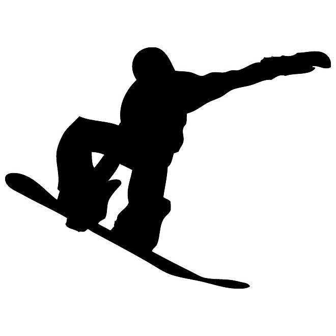 Snowboarder silhouette clipart clip art free download Snowboarder vector graphics silhouette - Free vector image ... clip art free download