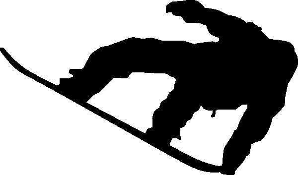 Snowboarder silhouette clipart clip transparent Snowboarder Silhouette Clip Art at Clker.com - vector clip ... clip transparent