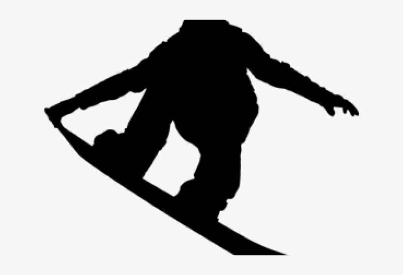 Snowboarding Clipart Snowboarder Silhouette - Snowboard ... jpg transparent library