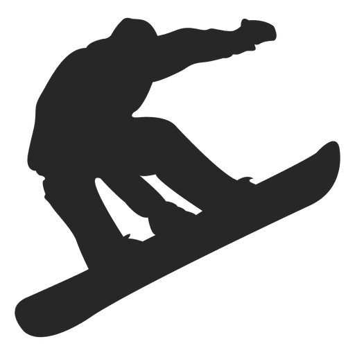 Snowboard jumping silhouette - Transparent PNG & SVG vector picture royalty free library
