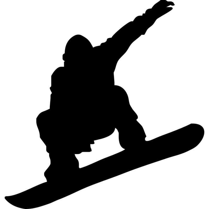 Snowboarder silhouette clipart svg royalty free download Snowboarding Skiing Silhouette Clip art - snowboard png ... svg royalty free download