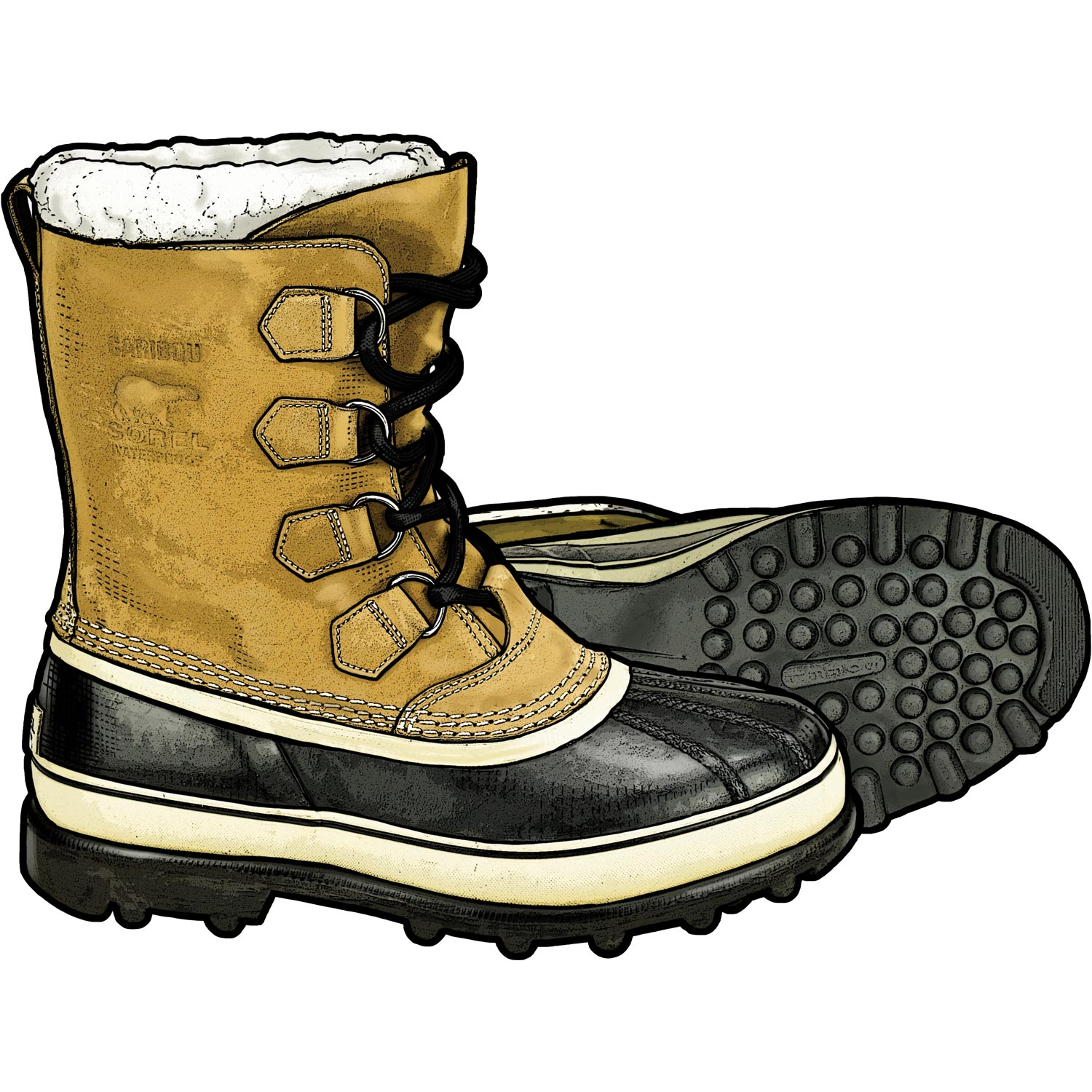 Snow boot clipart 2 » Clipart Station clip stock