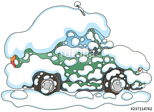 Snowed in clipart jpg transparent library Car under snow in winter, it snowed all night and froze very ... jpg transparent library