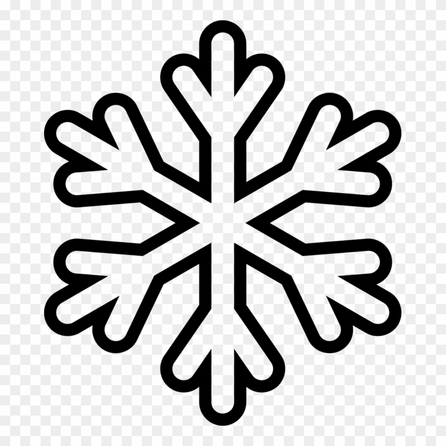Snowglake clipart vector black and white stock Snowflake - Clipart - Outline - Snowflake Coloring Page ... vector black and white stock