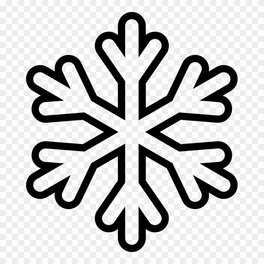 Snowflak clipart png free download Snowflake - Clipart - Outline - Snowflake Coloring Page ... png free download