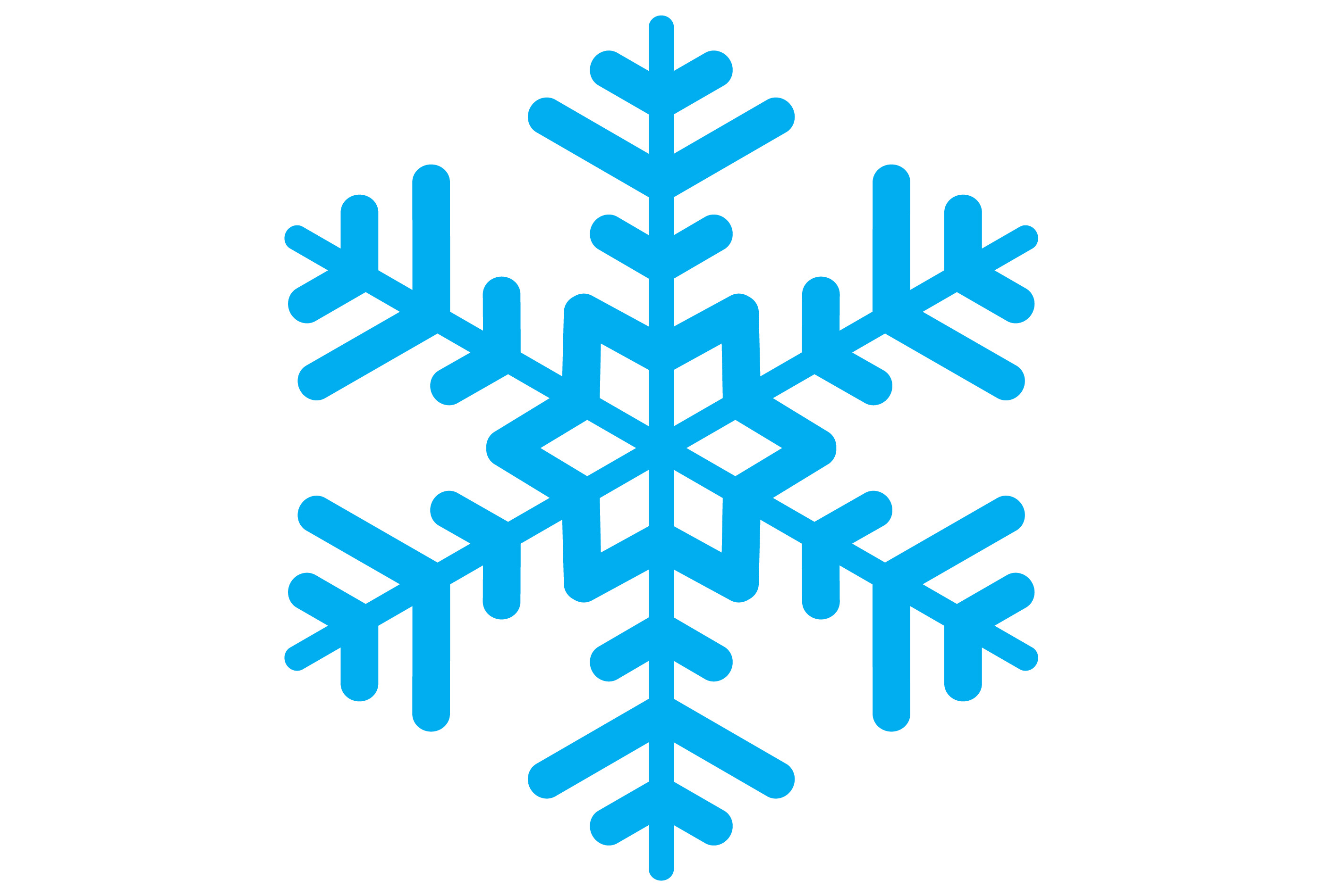 Snowflak clipart picture free library Snowflake Clipart to free download – Free Clipart Images picture free library