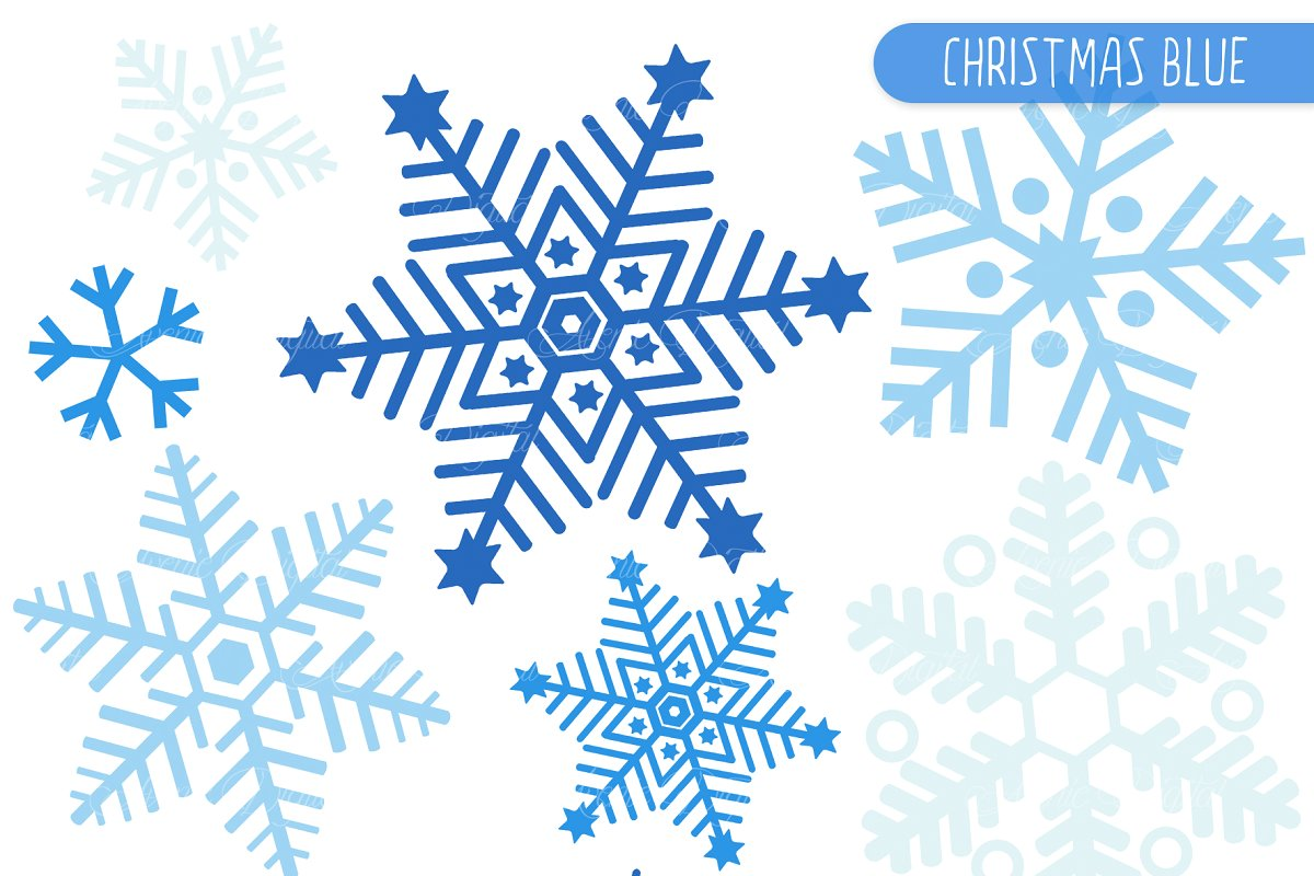 Snowglake clipart graphic freeuse Blue Snowflake Clipart and Vectros graphic freeuse