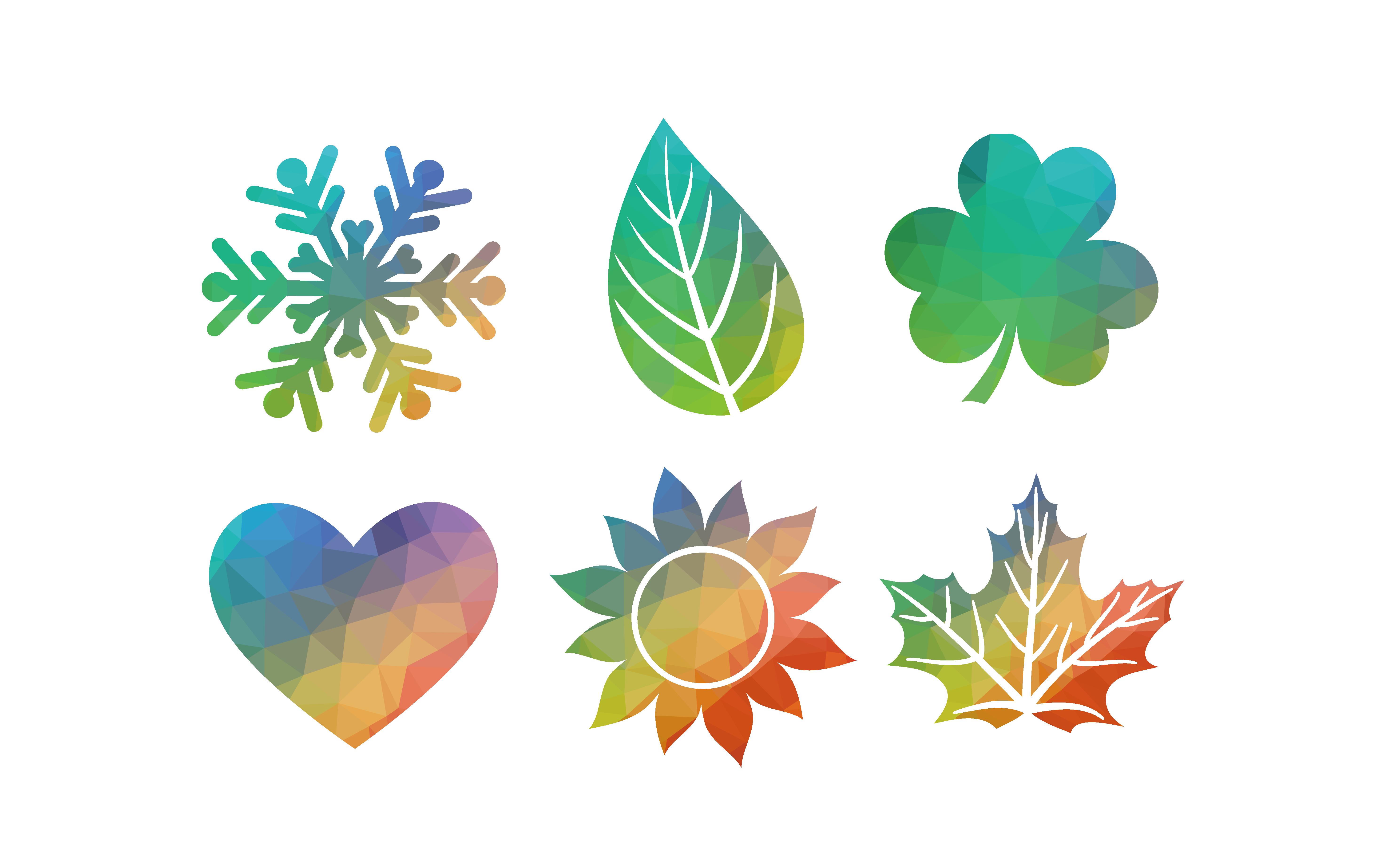 Snowflake colored clipart jpg freeuse download Adobe Illustrator Illustration - Creative color snowflake pattern ... jpg freeuse download