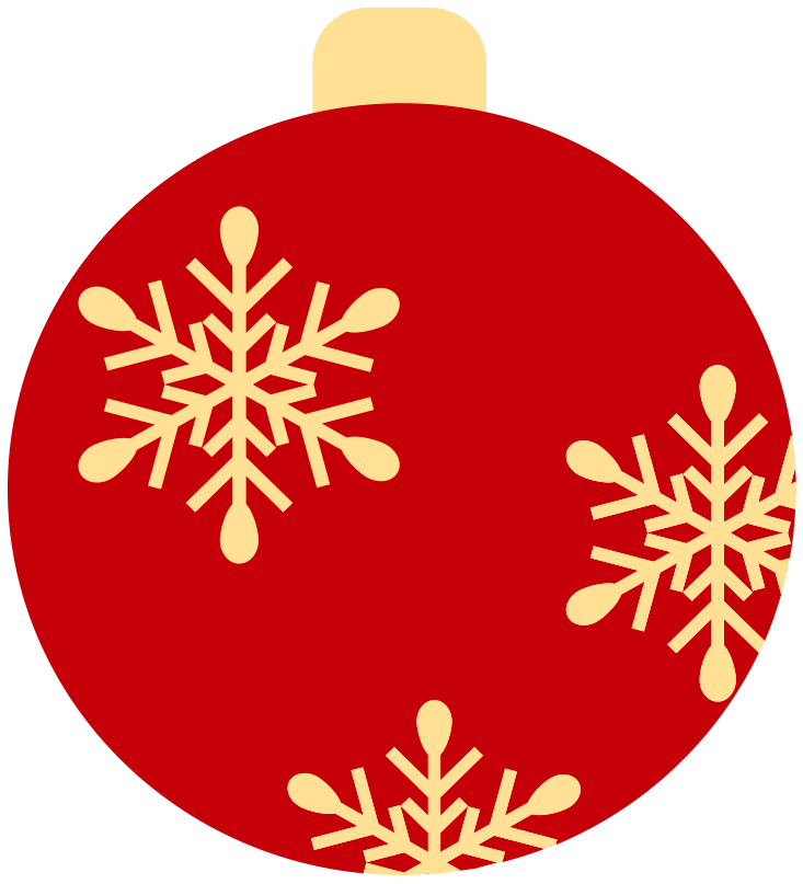 Snowflake and ornament clipart vector library library Buncee vector library library