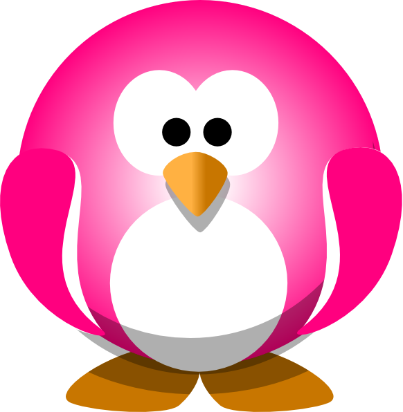 Snowflake and penguin clipart image library stock Pink Penguin Clip Art at Clker.com - vector clip art online, royalty ... image library stock