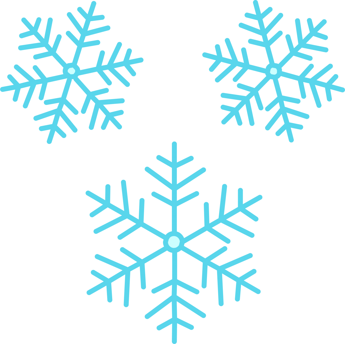 Snowflake clipart cute vector black and white Theme-Based Multi-Sensory Activities for Students with Visual ... vector black and white