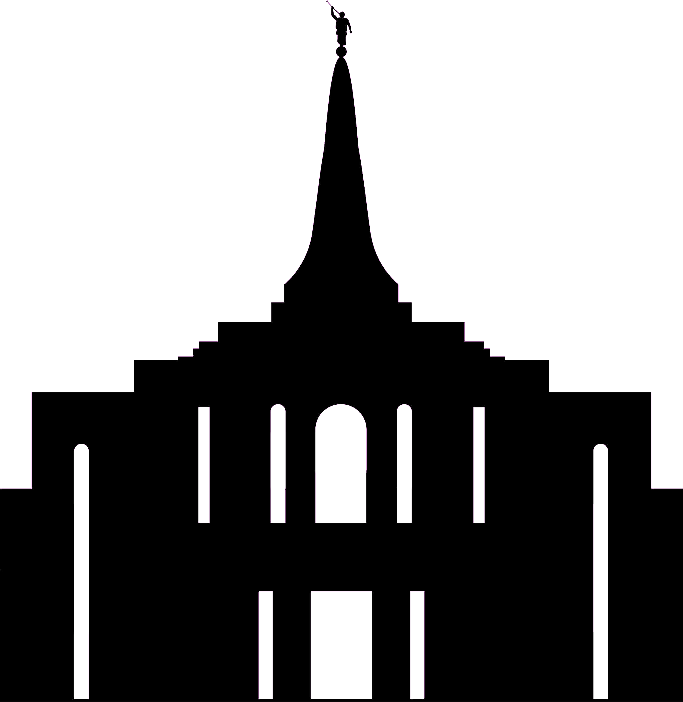 Snowflake as morman temple vector clipart image free library Gilbert Temple .png file Could come in handy for a temple ... image free library