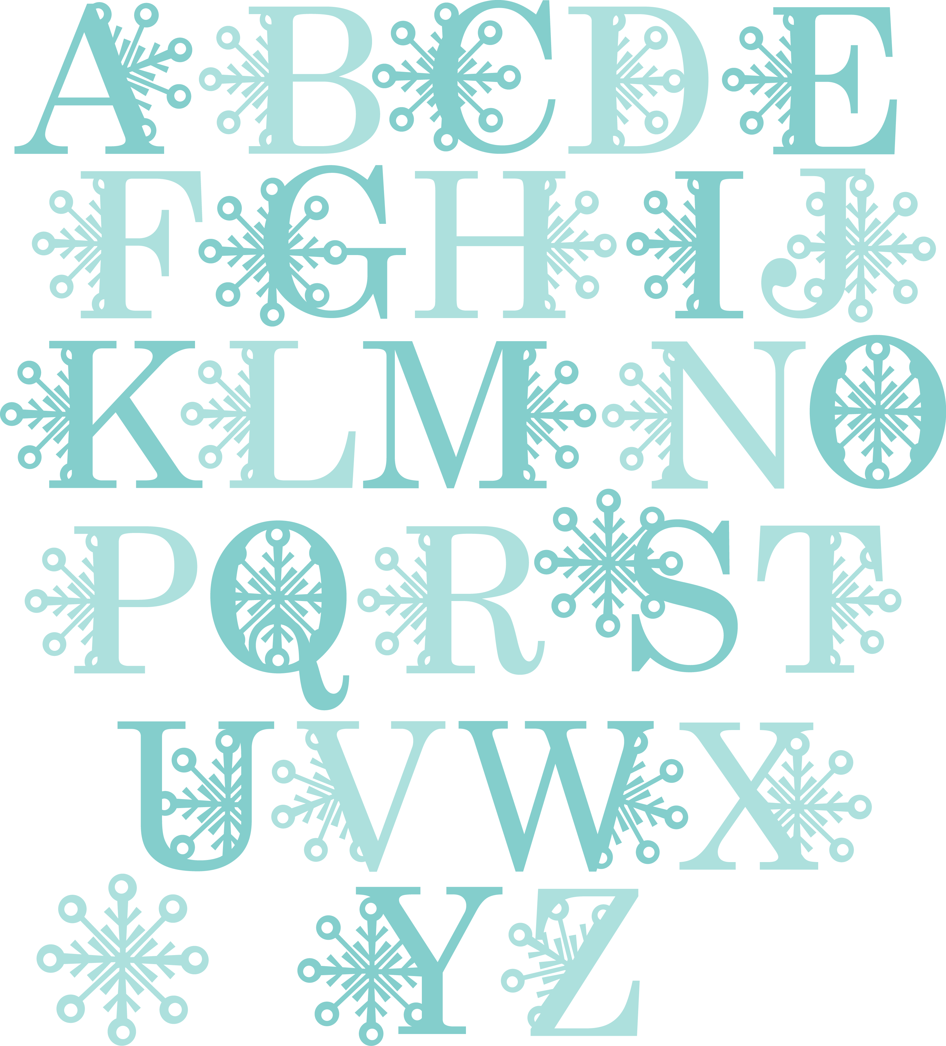 Snowflake bentley clipart clip royalty free download MKC_Snowflake Alphabet Uppercase_SVG   S_SVG_MKC_Miss Kate Cuttables ... clip royalty free download