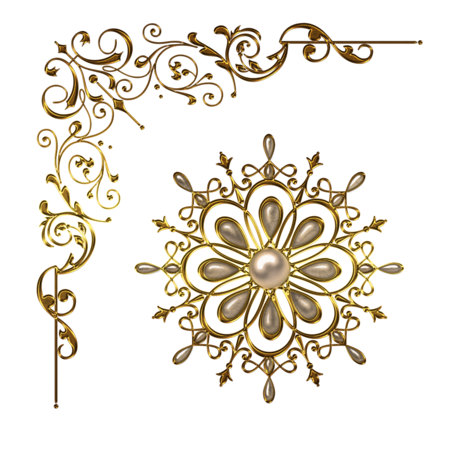 Snowflake corner border clipart no background image library download Magic items and elements Design gold amulet pendants Gold necklace ... image library download