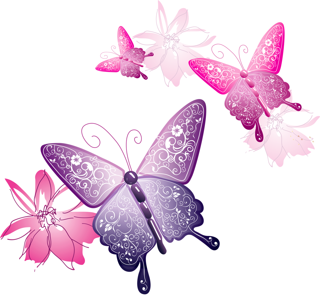 Snowflake butterfly clipart graphic freeuse library Transparent Butterfly Decorative Clipart | Gallery Yopriceville ... graphic freeuse library