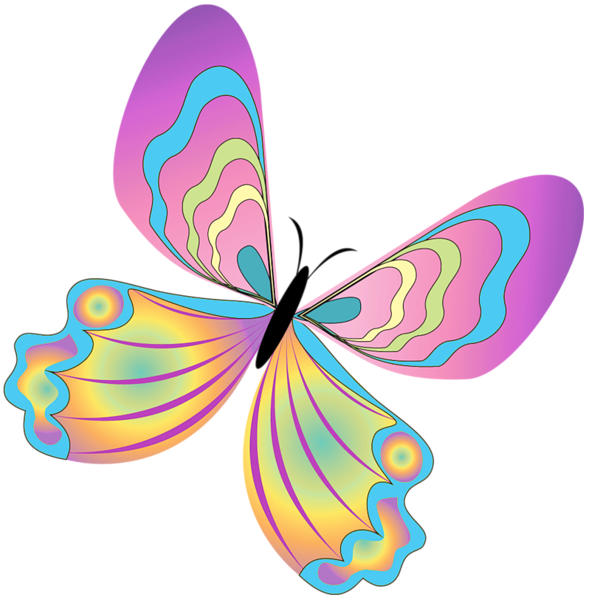 Snowflake butterfly clipart graphic free library Painted Butterfly PNG Clipart | Fibro Faith Hope & Butterflies ... graphic free library