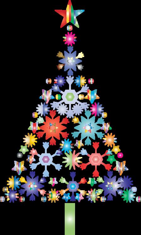 Snowflake christmas tree clipart svg royalty free library Christmas tree Christmas Day Computer Icons Snowflake free ... svg royalty free library