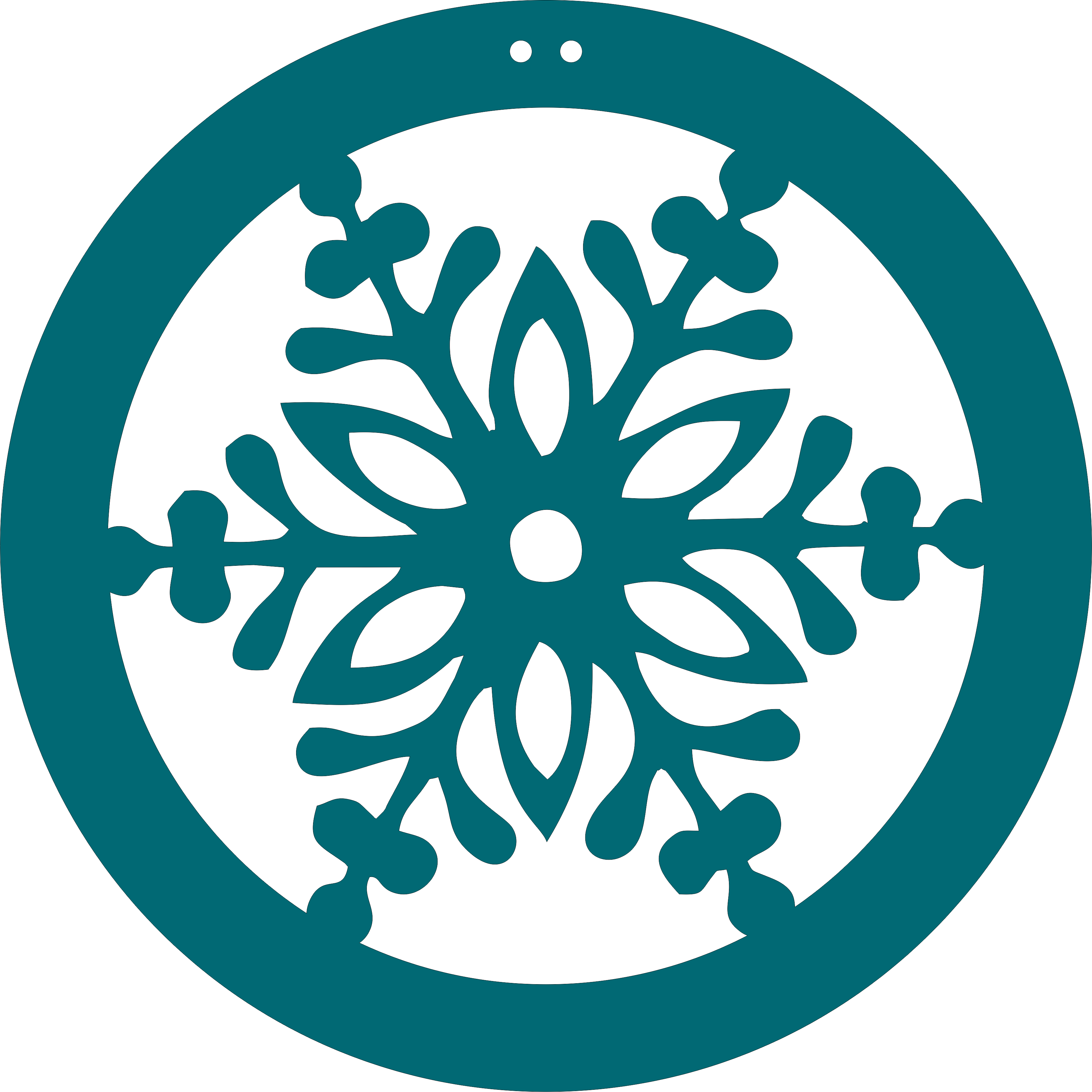 Snowflake circle clipart picture black and white download Snowflake   Innotations picture black and white download