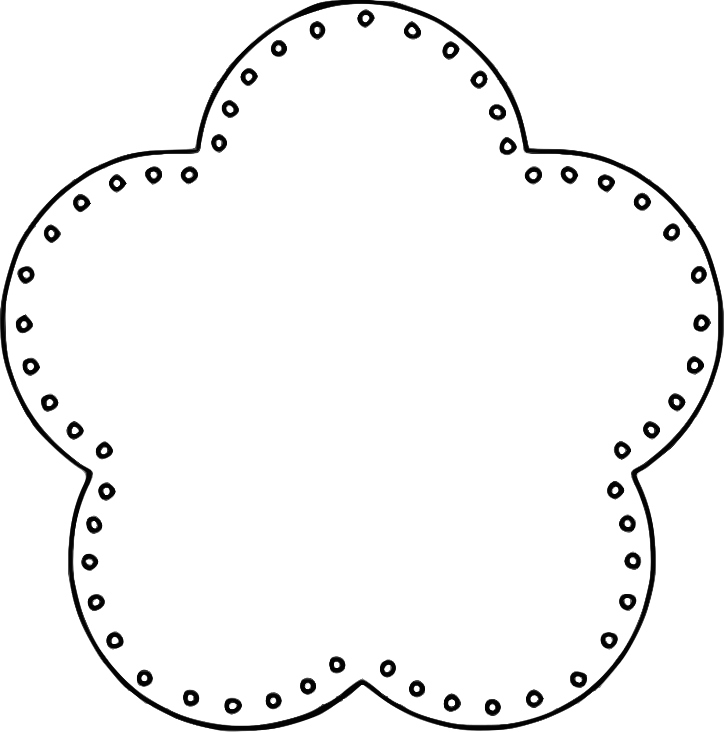 Snowflake circle frame clipart clip transparent 28+ Collection of Circle Border Clipart Black And White   High ... clip transparent