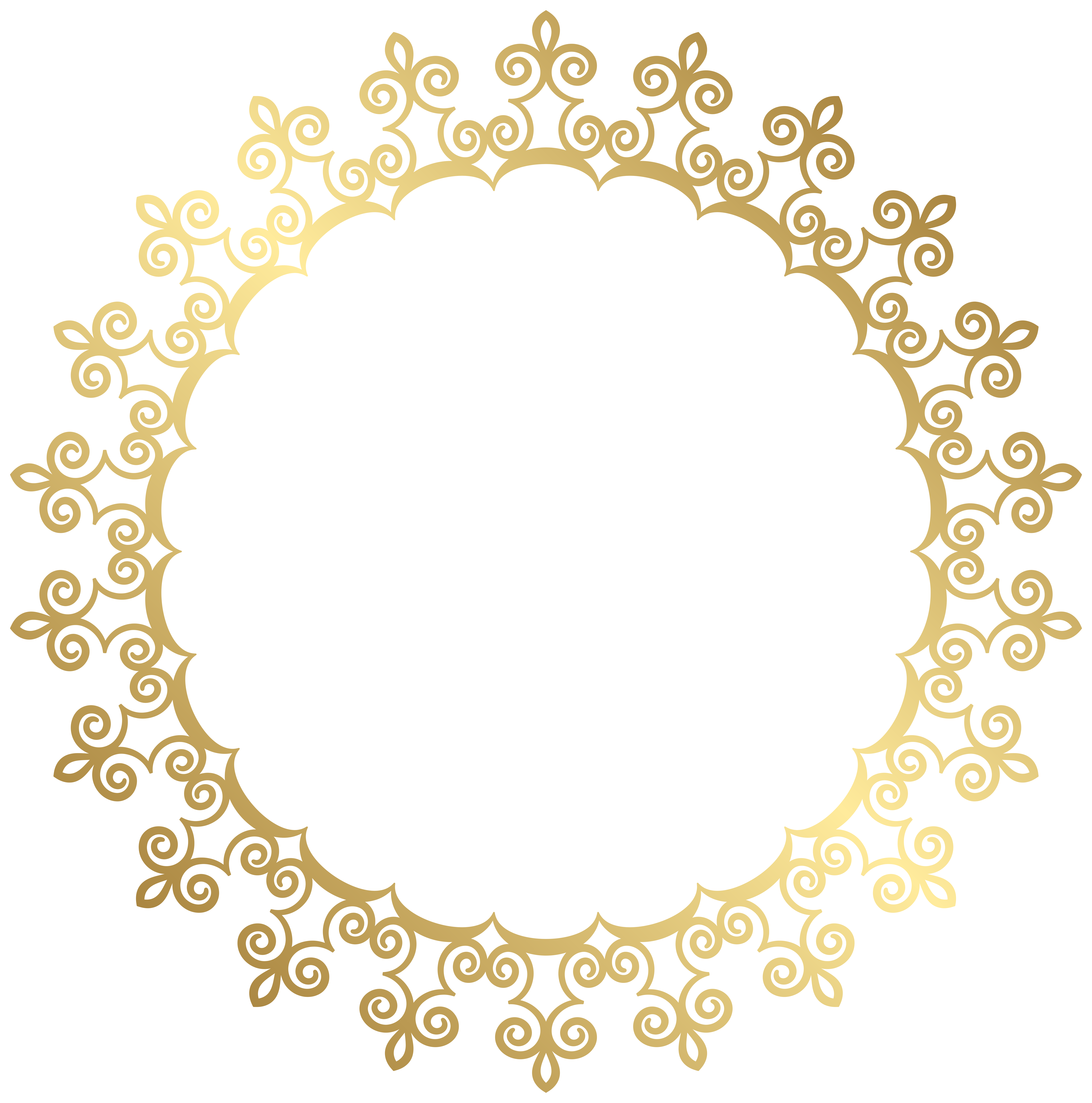 Snowflake circle frame clipart clip library 28+ Collection of Frame Clipart Gold   High quality, free cliparts ... clip library
