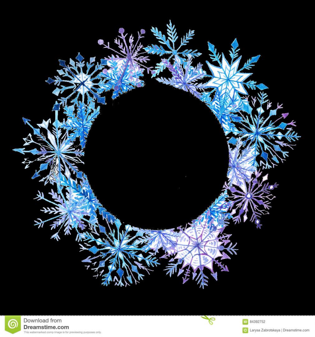 Snowflake circle frame clipart jpg free library Snowflake Watercolor painting Royalty-free - watercolor frame 1010 ... jpg free library