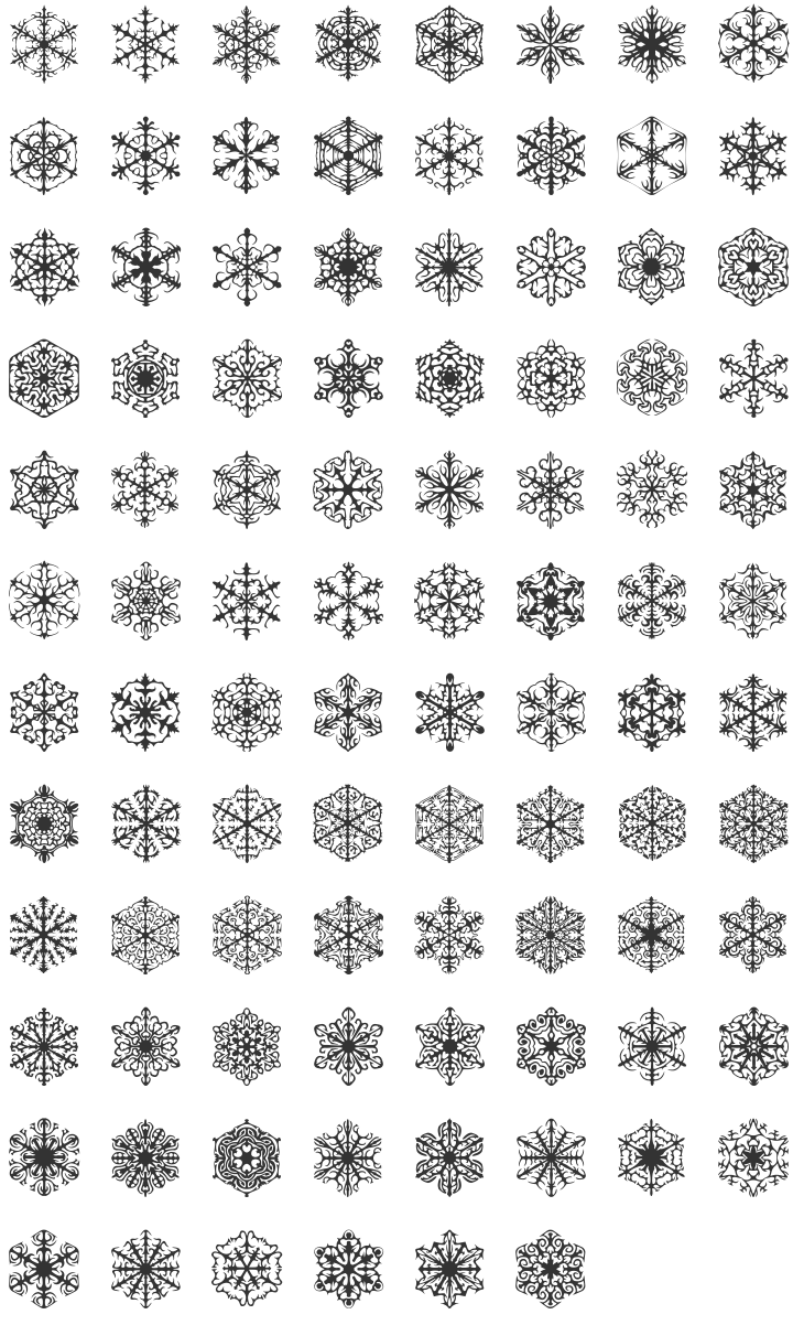 Snowflake clipart eps format jpg freeuse stock Snowflake dingbats - perfect for winter! | Typography - Fonts We ... jpg freeuse stock