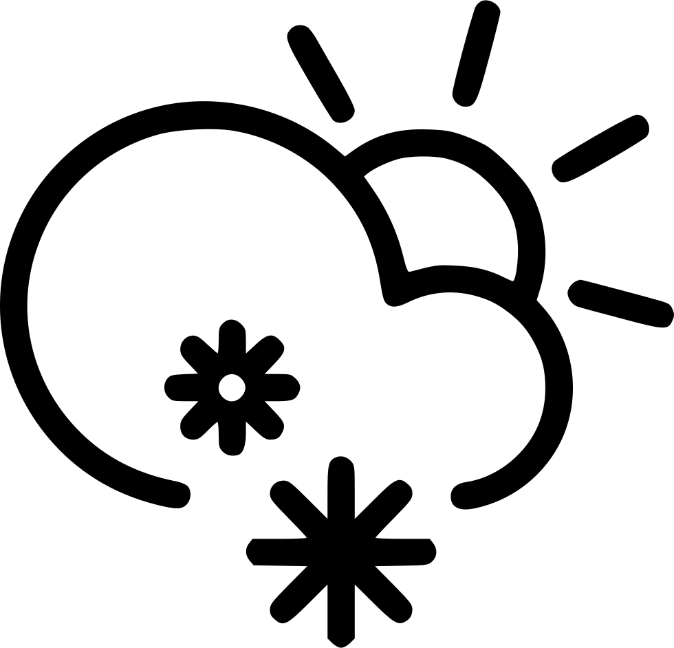 Snowflake clipart black and white png vector royalty free library Snow Cloud PNG Black And White Transparent Snow Cloud Black And ... vector royalty free library