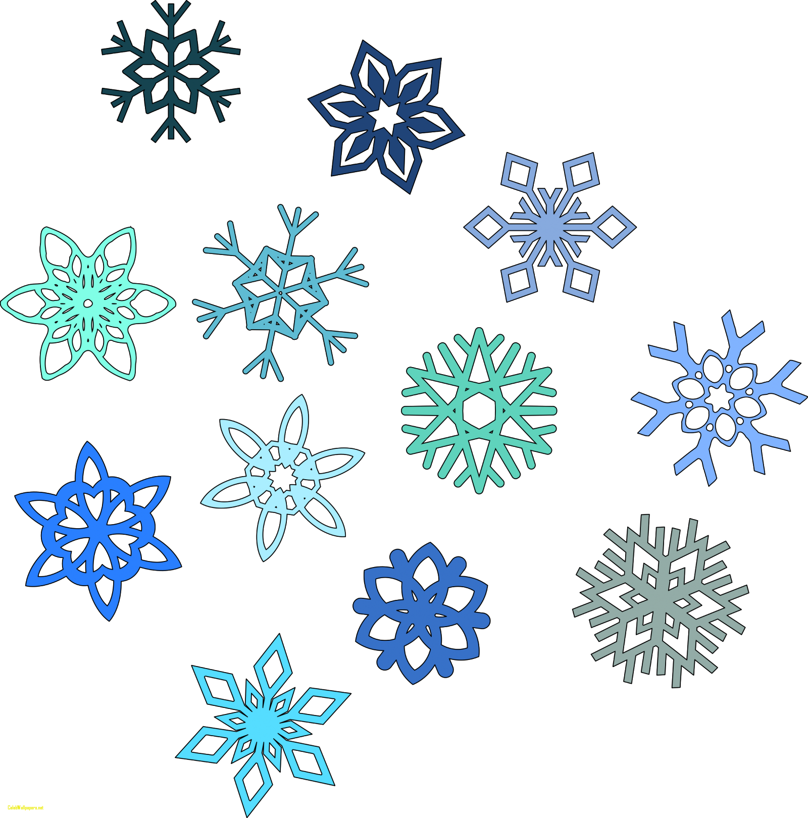Snowflake clipart easy image royalty free download Clipart Of Snowflakes - gucciguanfangwang.me image royalty free download
