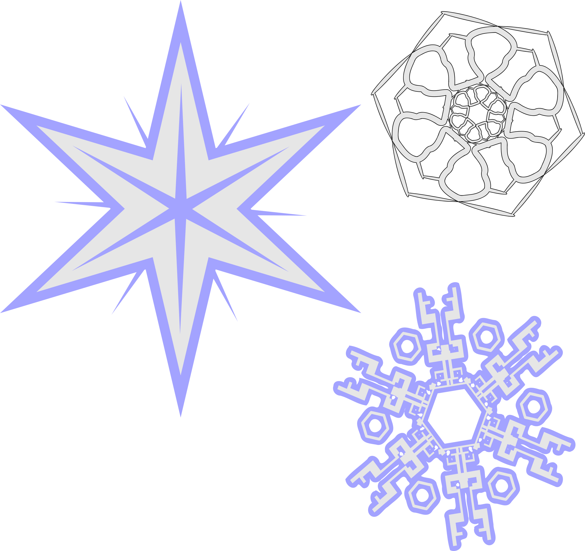 Snowflake clipart for microsoft office banner transparent library Clipart - 3 Snowflakes banner transparent library