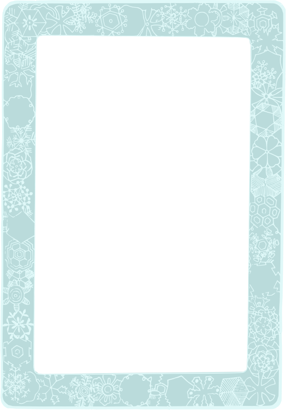 Snowflake clipart frame clip black and white library Clipart - Snowflake - Colour Frame clip black and white library
