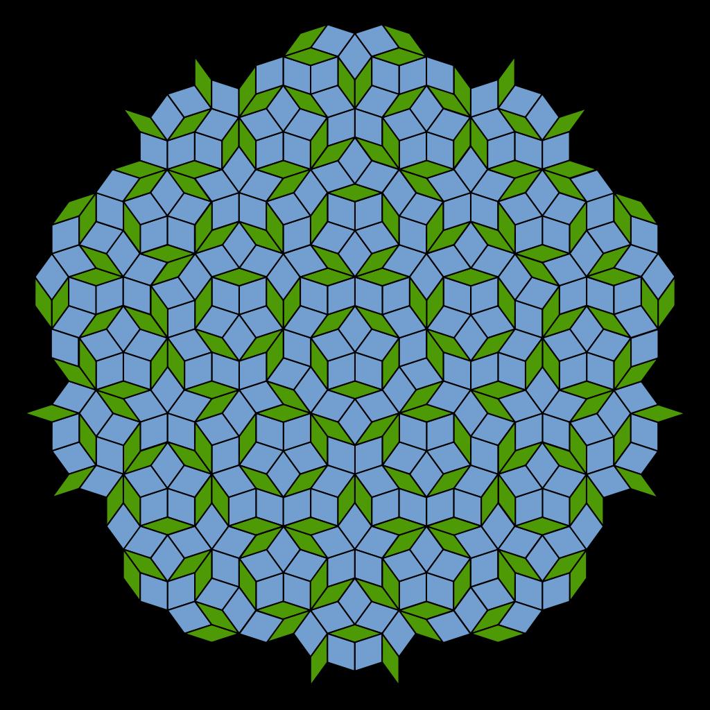 Snowflake clipart hexagon center banner royalty free Penrose tiling - Wikipedia banner royalty free