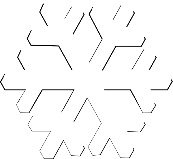 Snowflake clipart jpg png transparent library Snowflake Clipart Black And White No Background png transparent library
