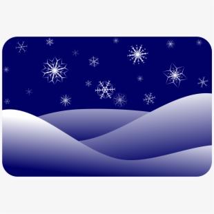 Snowflake clipart scene vector black and white library Scenery Clipart Winter - Winter Snow Scenes Clipart #122222 ... vector black and white library