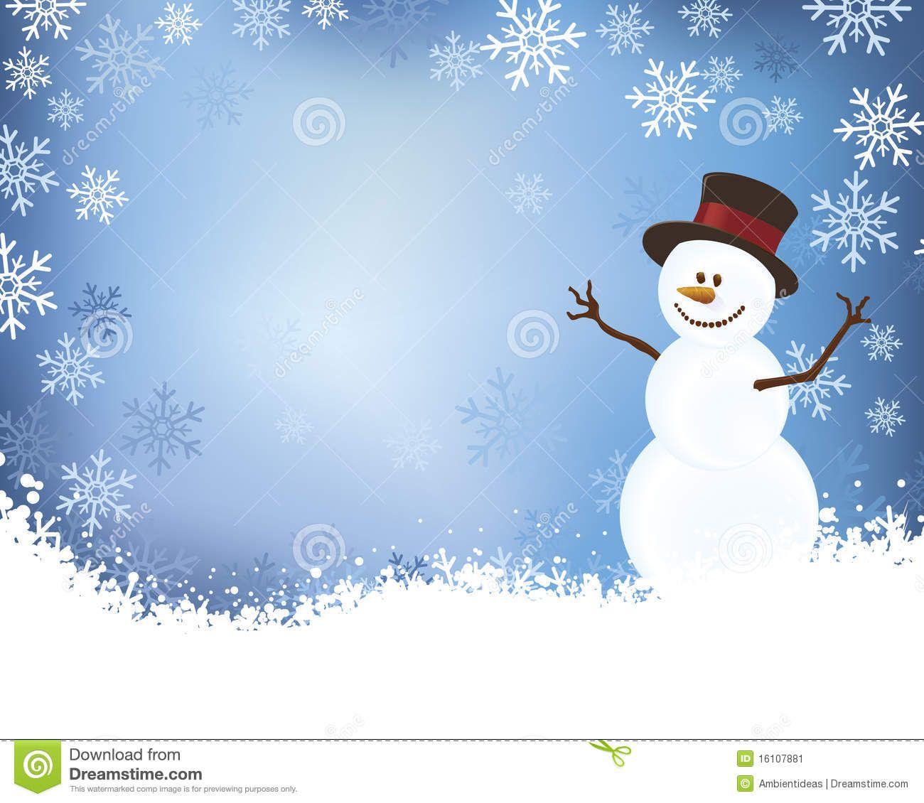 Snowflake clipart scene clip download Snowman on Blue Winter Scene Background Stock Image ... clip download