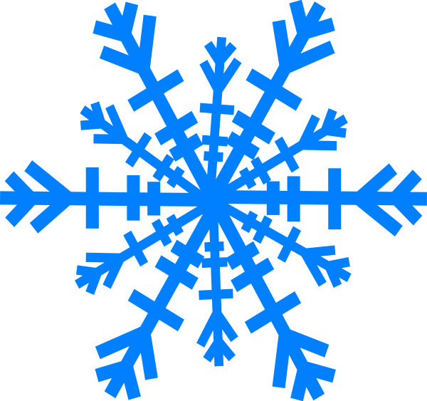Snowflake clipart silhouette picture royalty free Snowflake Clip Art at Clker.com - vector clip art online, royalty ... picture royalty free