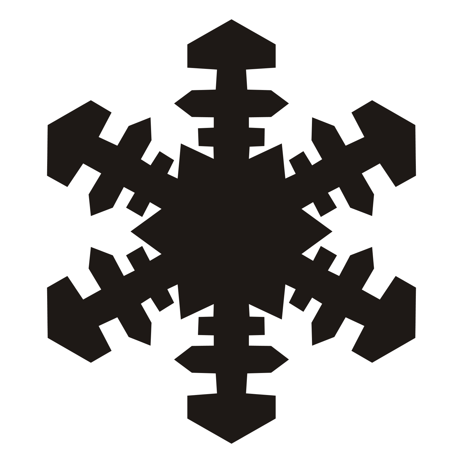 Snowflake clipart transparent background for one page clipart black and white stock Snowflake PNG image clipart black and white stock