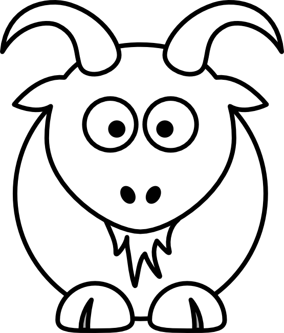 Snowflake clipart with face black and white banner transparent library Goat Clipart Black And White | Clipart Panda - Free Clipart Images banner transparent library