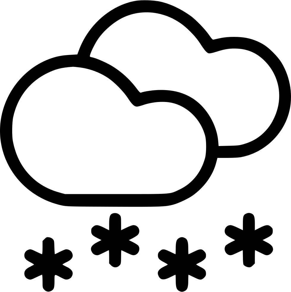 Snowflake cloud clipart transparent stock Cloud Clouds Snow Snowfall Svg Png Icon Free Download (#542142 ... transparent stock