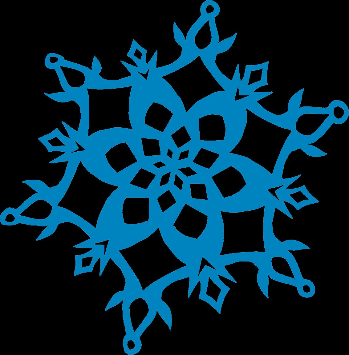Snowflake cookie clipart image royalty free stock Libella: Shrinky Dink Snowflake Earrings image royalty free stock