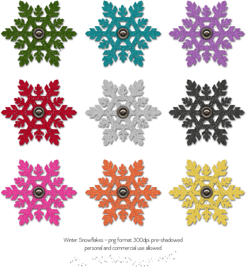 Snowflake edge clipart png library Winter Snowflakes Set 2 by HGGraphicDesigns on DeviantArt png library